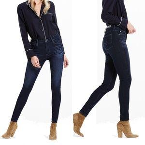 AG The Farrah High Rise Skinny Jeans Dark Wash
